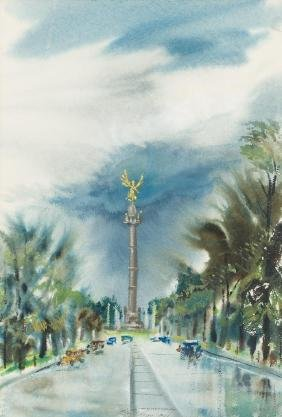Lloyd Goff (1908-1982), Mexico, 1954, watercolor