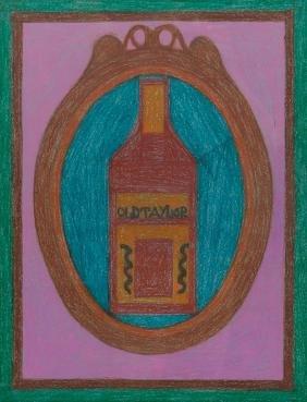 """Eddie Arning (1898-1993), """"Old Taylor"""", pastel"""