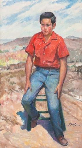 Barry Greene (1895-1966), Pepe, oil on canvas