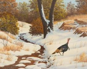 Manuel Garza (b. 1940), First Snow, oil on canvas,