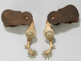 Hercules Indian head pattern bronze spurs, star-marked,