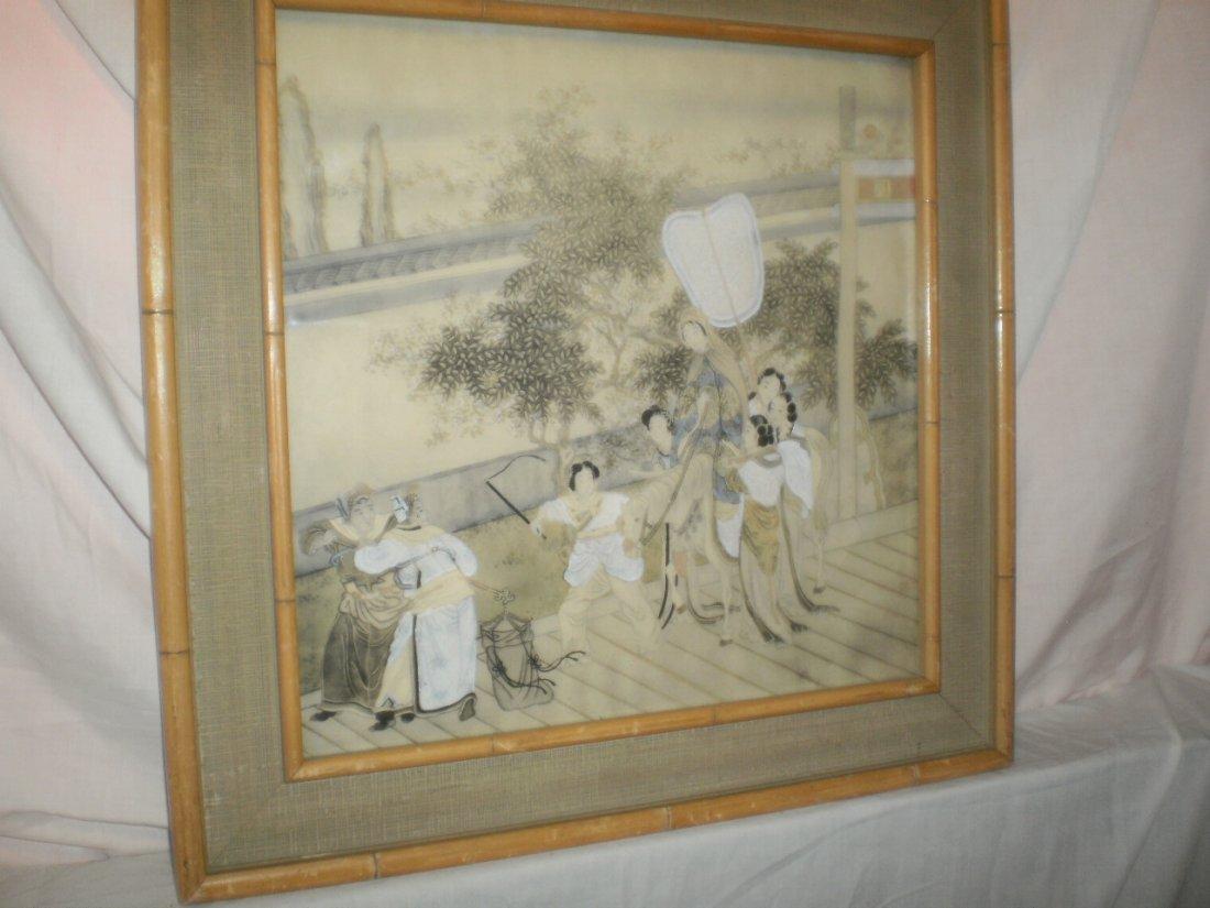 CHINES 19TH CENTURY  W/C COURT SCENE