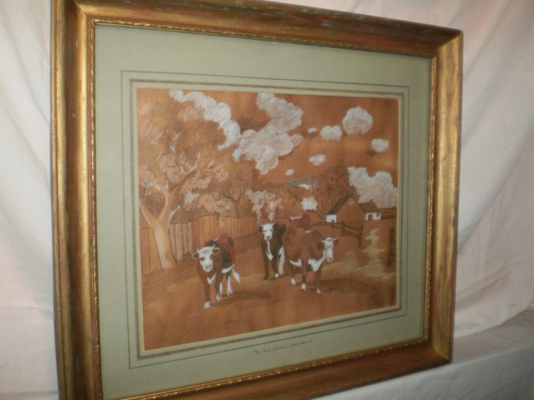 A. HALL 19TH EARLY 20TH CENTURY PASTEL