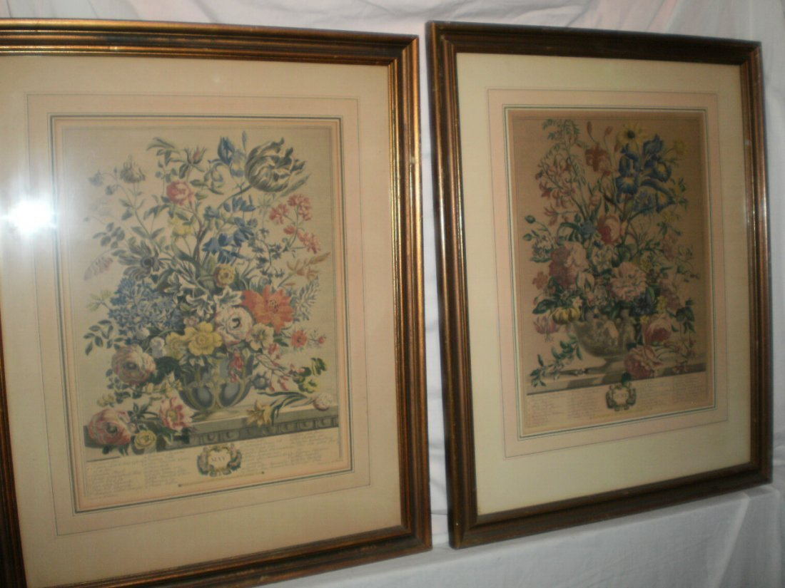 PAIR OF 18TH CENTURY HAND COLORED ETCHINGS