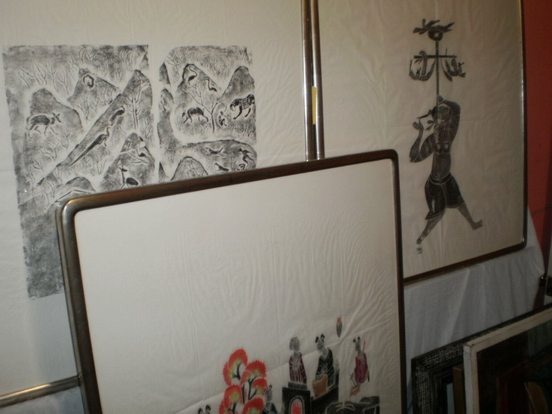 SET OF 3 EARLY CHINESE OR JAPANESE WOODBLOCK PRINTS