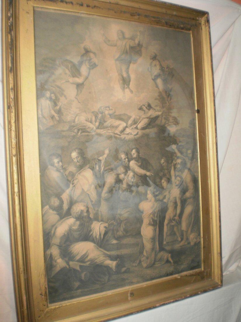"Raphael \""The Transfiguration\"" OLD MASTER ENGRAVING"