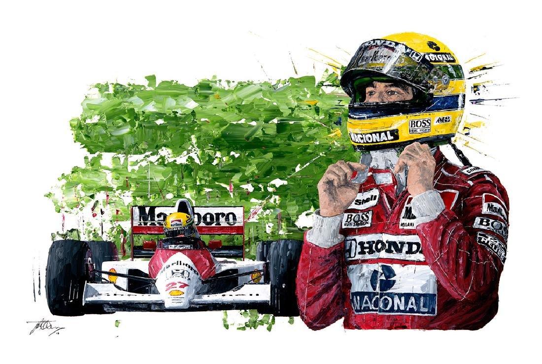 'Senna' Artist-signed, Limited Edition Giclee Print