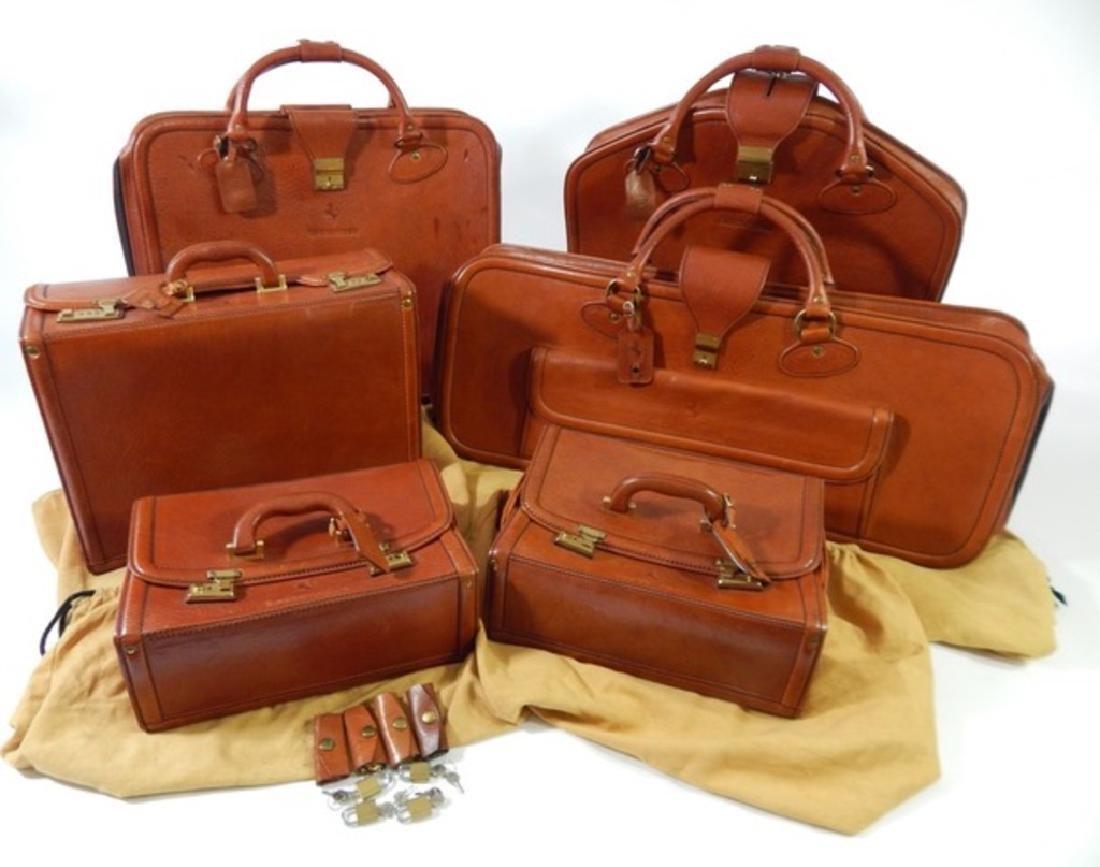 Ferrari Testarossa Schedoni Leather luggage set.