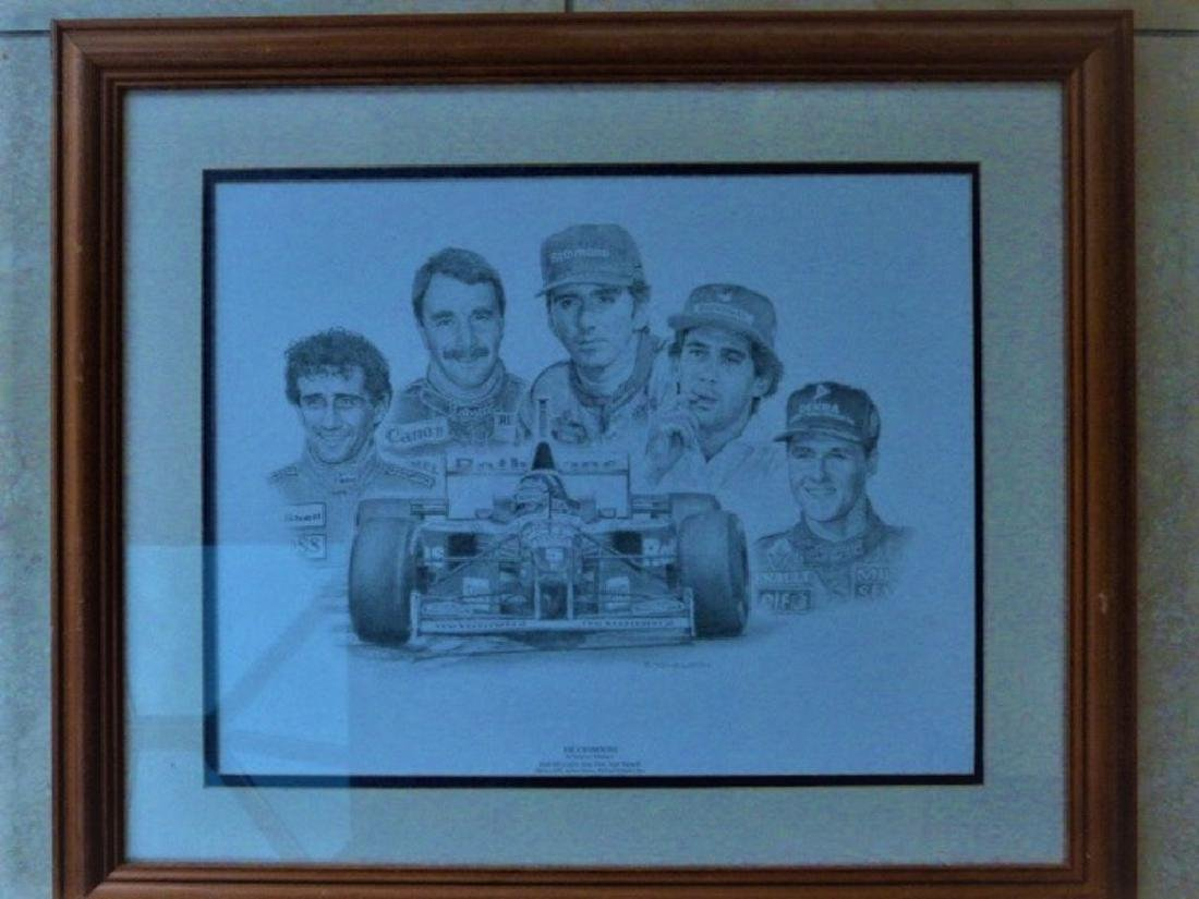 Trio of F1 related images. - 3