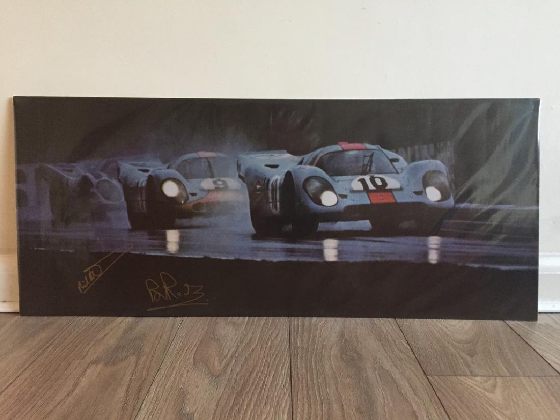 'A trio of 917s'. Signed print.