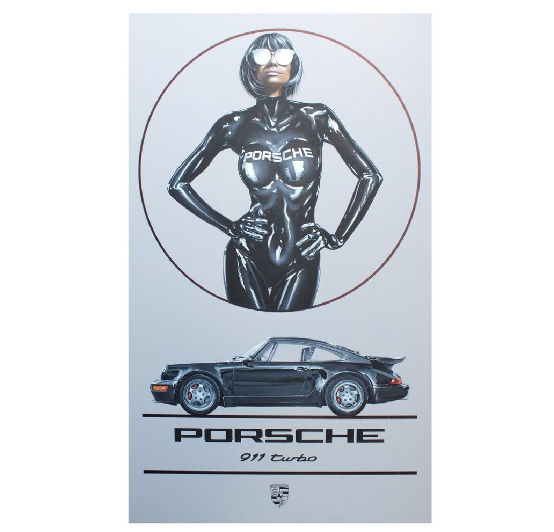 """Porsche Turbo Girl"" by Tony Upson."