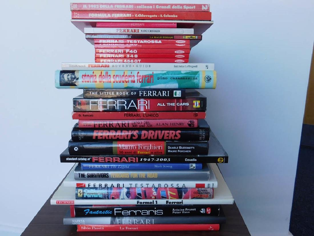 Quantity of Ferrari related books