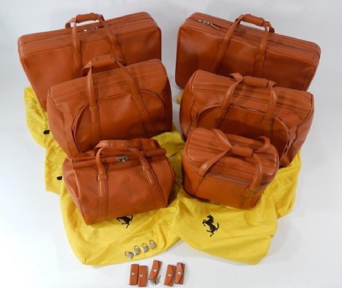 Ferrari 550 6 piece Schedoni luggage set.