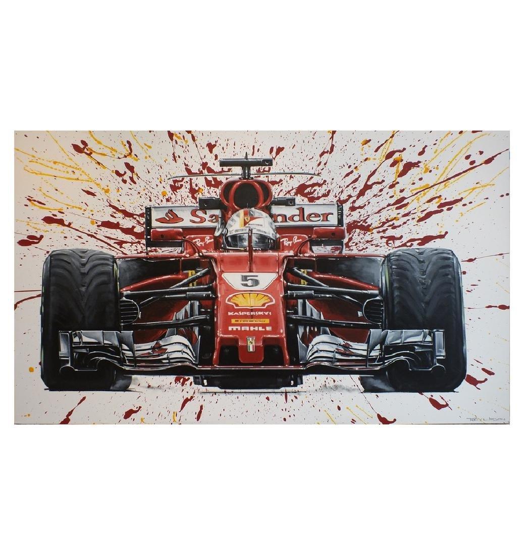 """""""Vettel"""" by Tony Upson."""