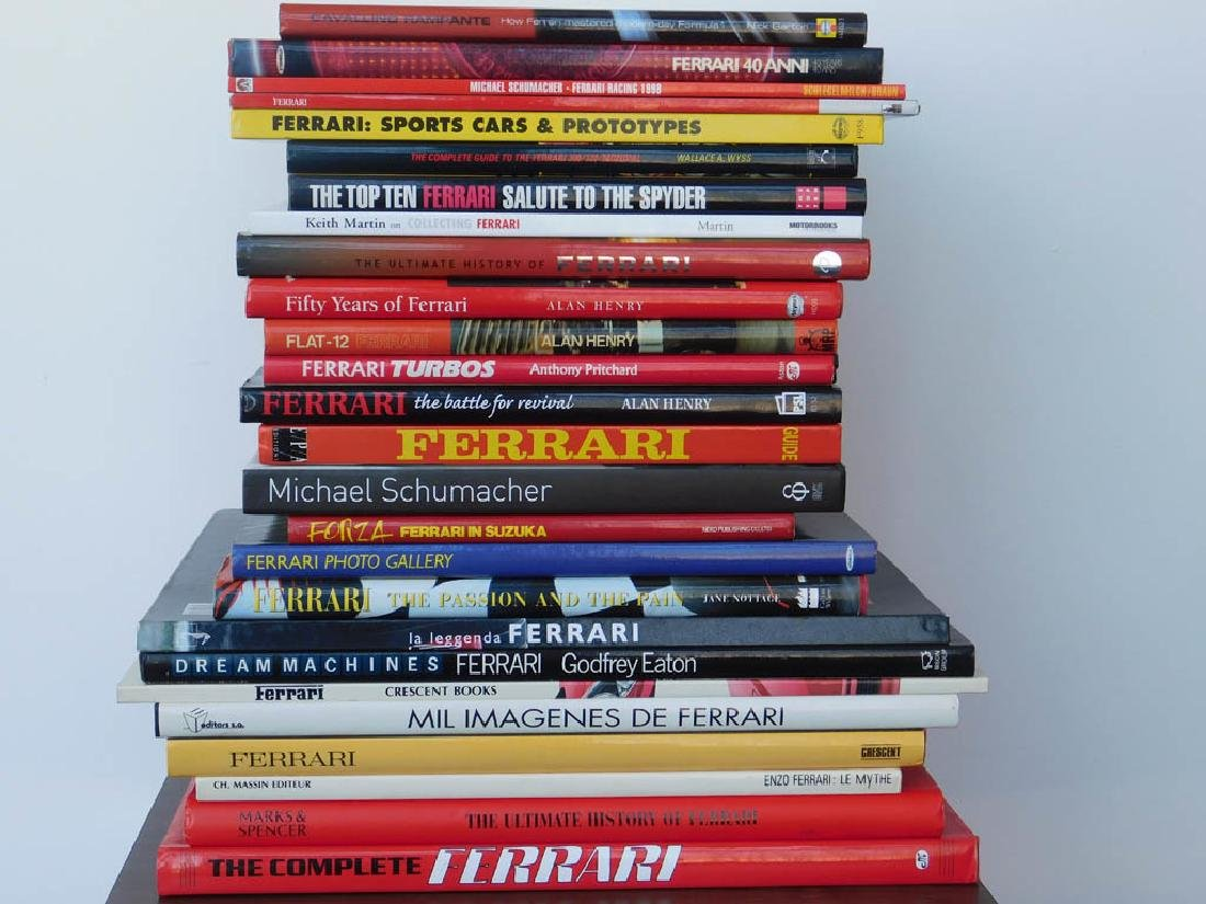 Quantity of Ferrari related books