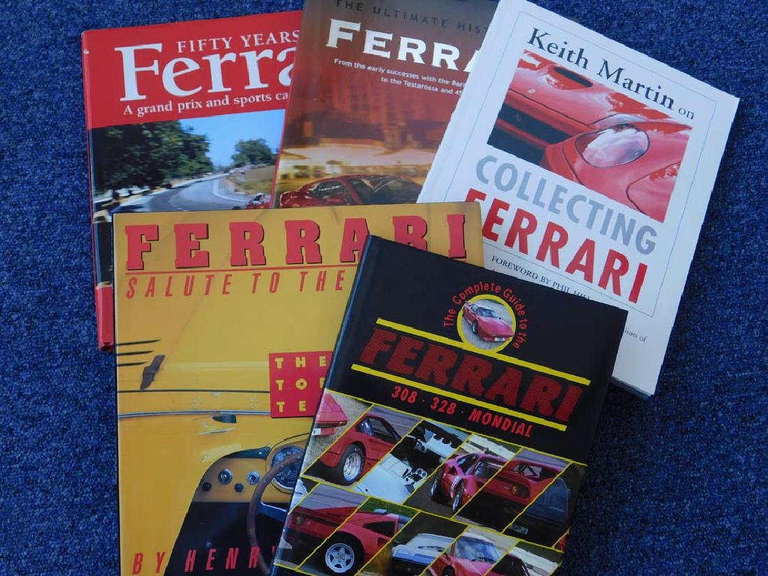 Quantity of Ferrari related books - 3