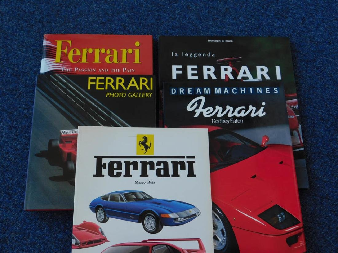 Quantity of Ferrari related books - 5
