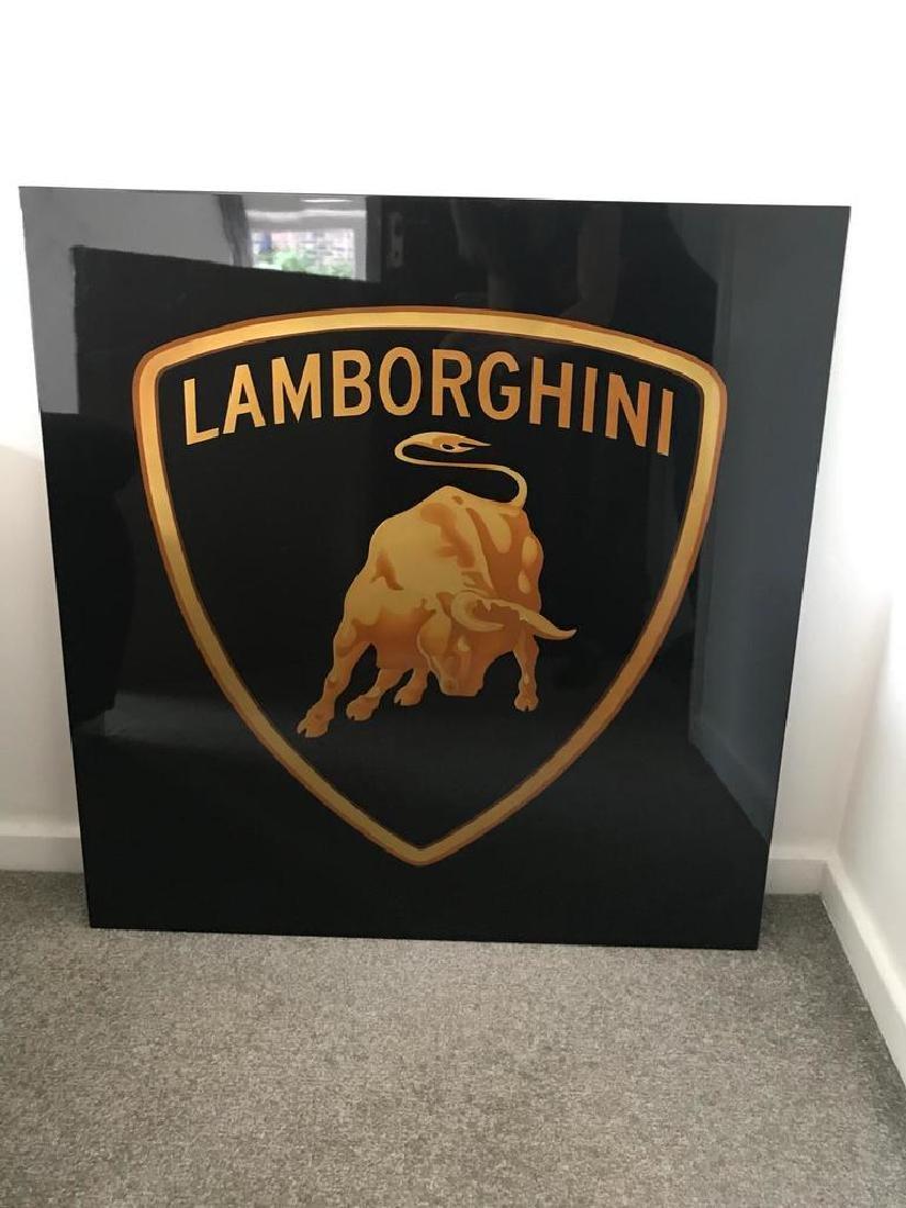 Lamborghini Wall Sign.