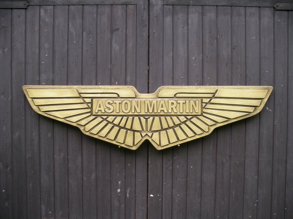 Cold cast Bronze and painted Aston Martin Badge