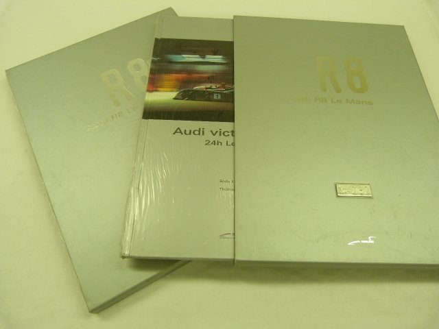 Two Copies of Audi R8 Le Mans Victories Book