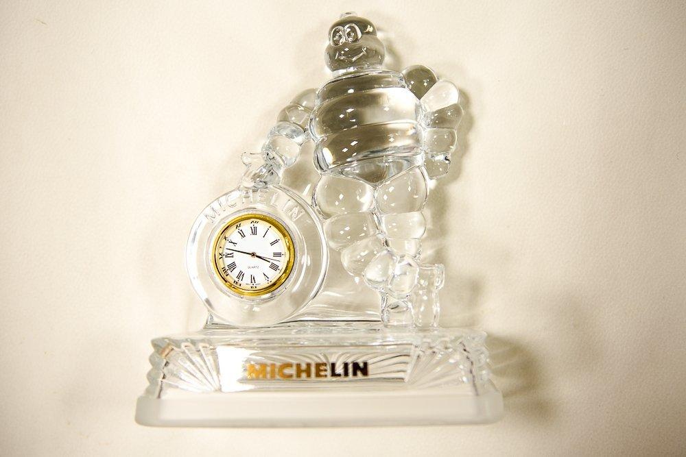 Crystal Michelin Man Clock