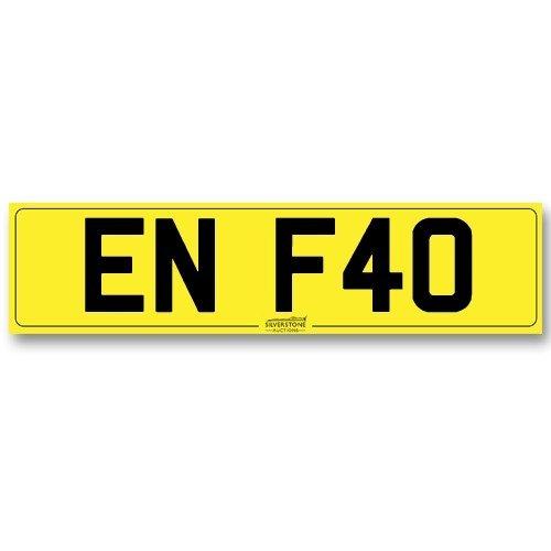 Registration No. - 'EN F40'