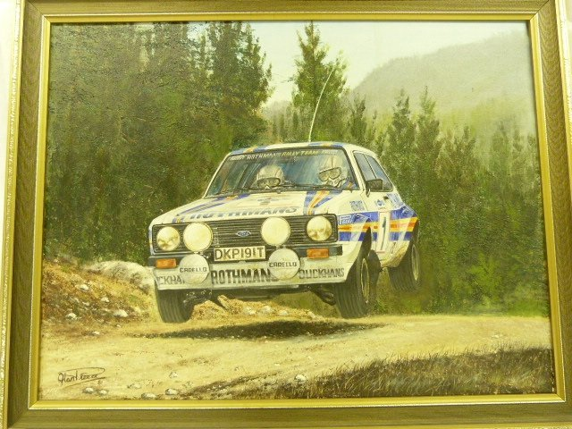 Oil Painting of Rothmans Escort By Alan Dreece