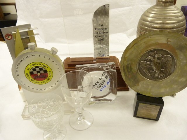 9 Assorted Trophies and Rally Winning Awards