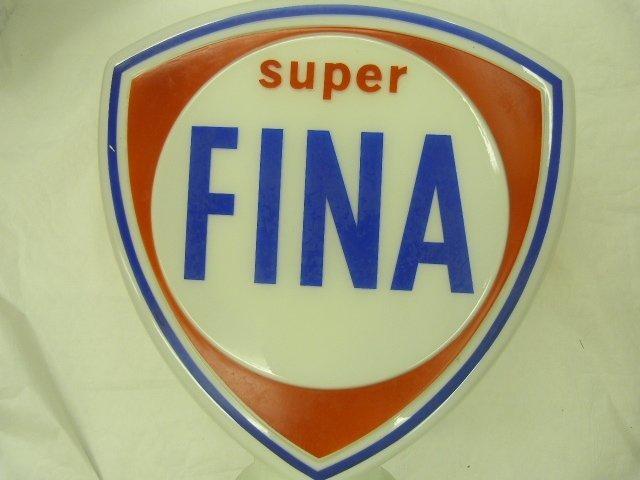 FINA Glass Petrol Globe