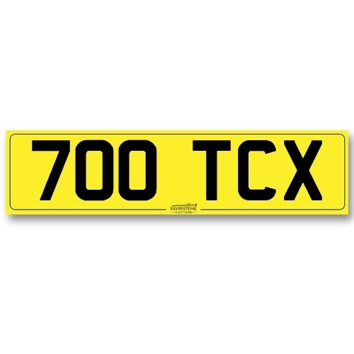 Registration No. - '700 TCX'