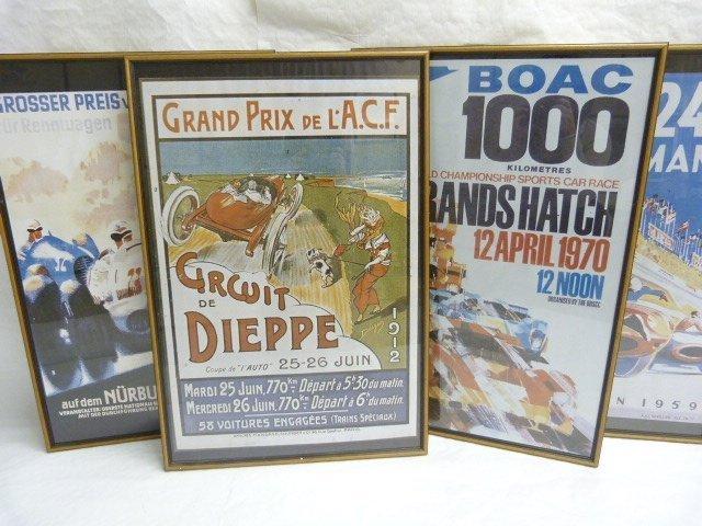 4 Classic Motor Racing Prints