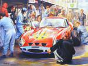 Ferrari Oil Painting