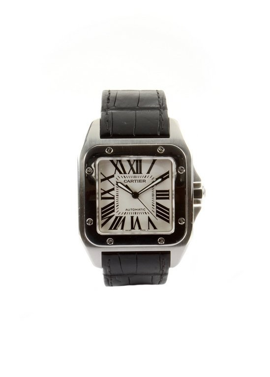 C.2007 Cartier Santos 100 'large' stainless steel