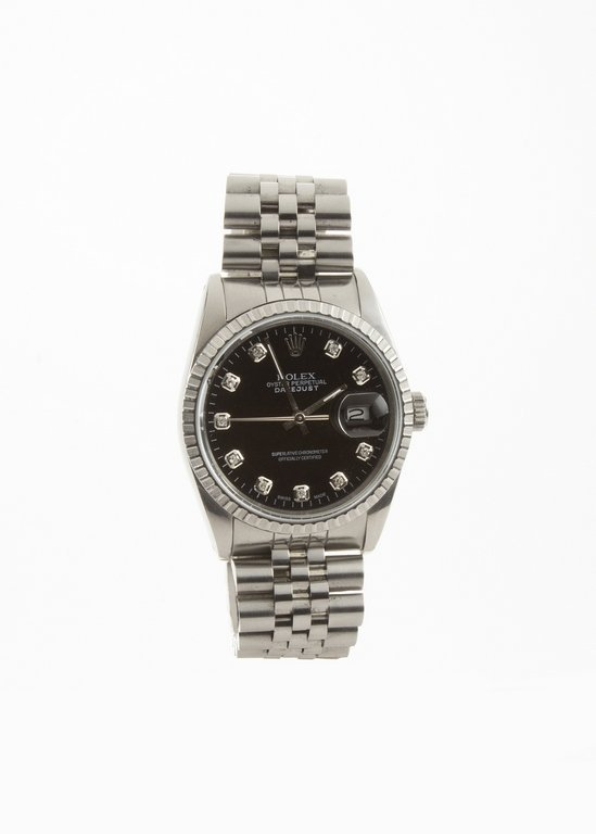 1990 Rolex Datejust Diamond dot box and papers