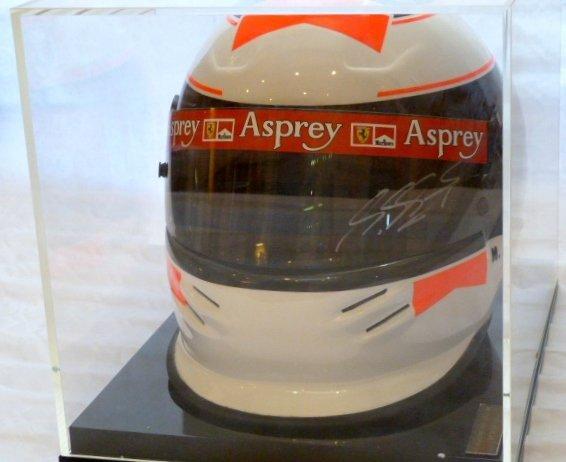 A Michael Schumacher signed Bell racing helmet