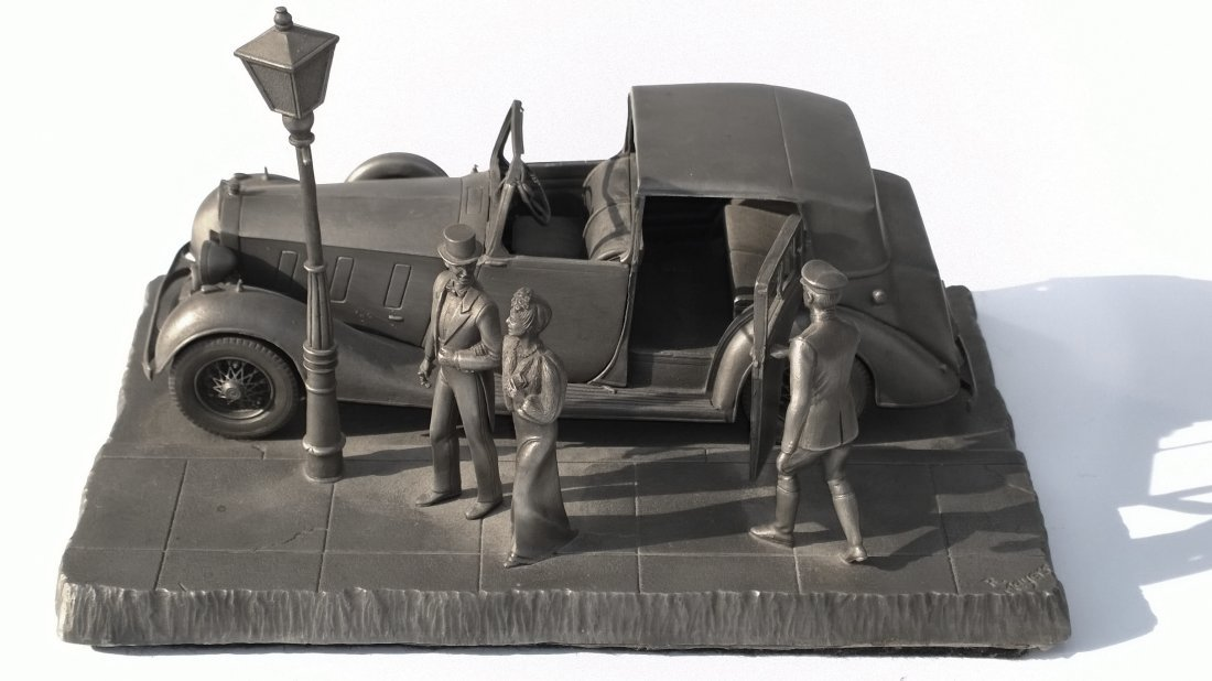 Pewter Motoring Diorama