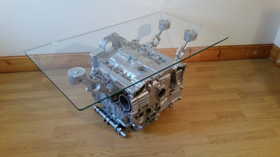 Boxster Engine Coffee Table