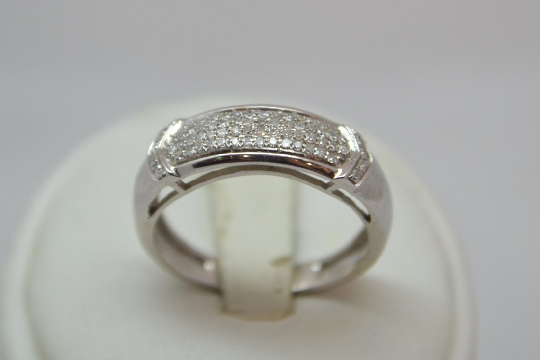 10K White Gold Half Eternity Ring. 1/3 ct
