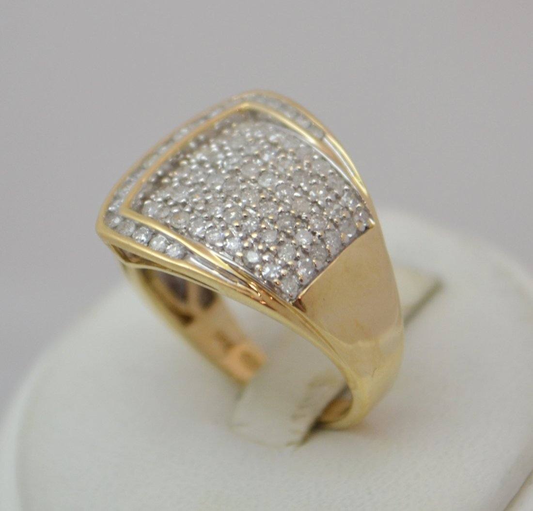 14K Belt Ring with 1.00 carat Diamonds