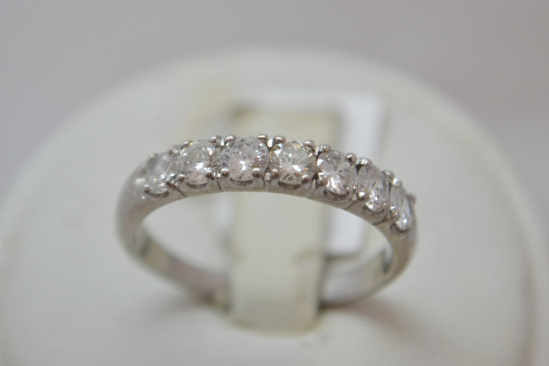 14K WG Half Eternity Ring with  0.70 ct Diamonds H-SI1