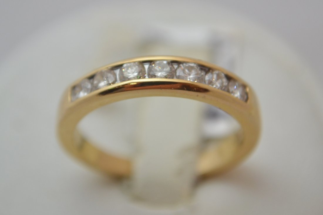 14K Half Eternity Ring with  0.35 ct Diamonds