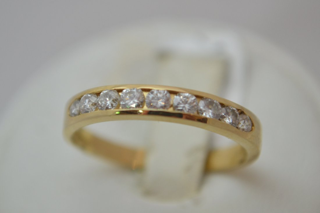 14K Half Eternity Ring with  0.45 ct Diamonds