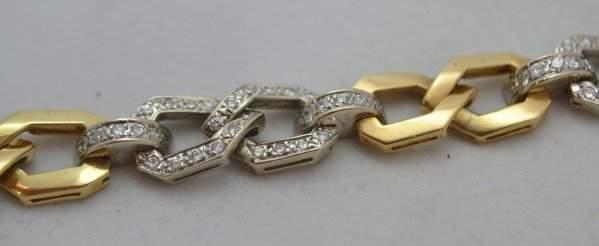 18K Gold Bracelet w/ 1.60 ctw Diamonds