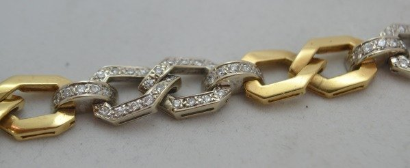 18K Gold Bracelet w/ 1.60 ctw Diamonds