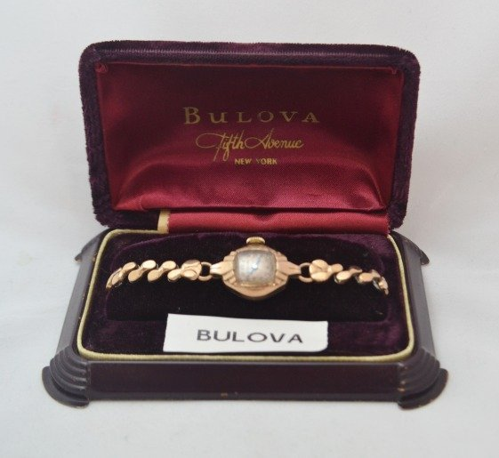 BULOVA Antique Watch Gold Filled Original Box