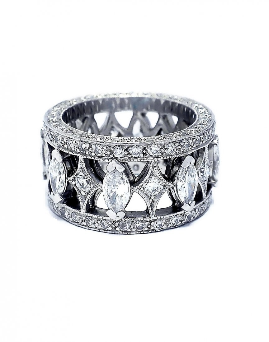 Custom Heavy Platinum Diamond ladies  band