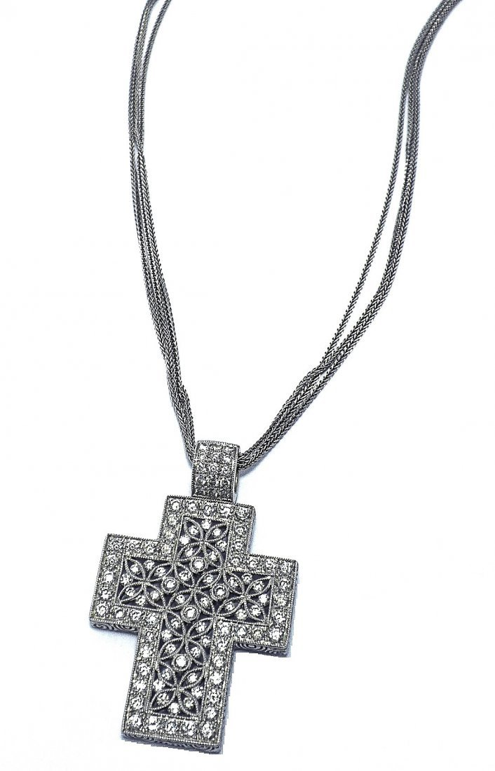 Hand-Made 18KT Filigree  Cross Necklace