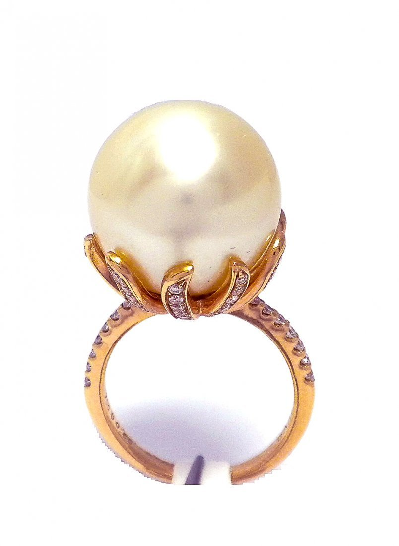 18KT Rose Gold South Sea Pearl Ring