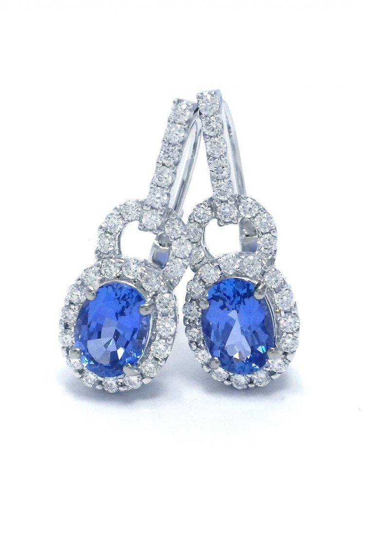 Stunning Tanzanite, Dia Dangling Earrings (Retail $14K)