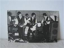 BEATLES POST CARD B/W 1962 CAVERN CLUB RINGO NEW DRUM'R